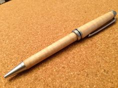 Designer curly maple ballpoint pen by SPWoodArt on Etsy, $20.00