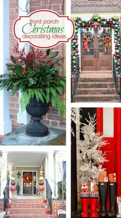 Front Porch Christmas Decorating Ideas | Bright Bold and Beautiful