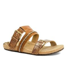 cc95b308d229 Loving this Whisky Sofia Leather Slide - Women on  zulily!  zulilyfinds  Whisky