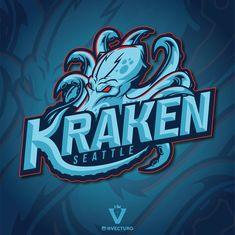 Kraken Logo, Sports Jersey Design, Nhl Logos, Speed Art, Seattle Art, Esports Logo, Sports Graphics, Game Logo, Photoshop Illustrator