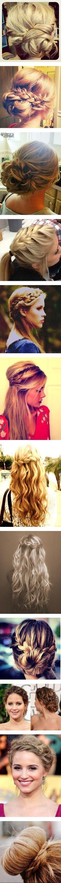 """Braided Hair Buns"" top 3 for | http://newhairstylesforgirls.blogspot.com"