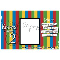 Elmo Sesame Street Invite from Vinyl Expressions for $10.00