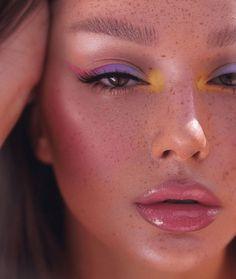Cute Makeup Looks, Makeup Eye Looks, Eye Makeup Art, Pretty Makeup, Skin Makeup, Clown Makeup, Freckles Makeup, Pin Up Makeup, Eyeliner Makeup