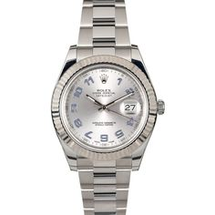 Model Name/Number: Datejust II 116334 Serial/Year: Random - 2011 or newer Gender: Men's Movement: Automatic 3136 movement w/ date, 31 jewels, Quickset, scratch- Rolex Datejust Ii, Rolex Watches, Pouch, White Gold, Stainless Steel, Jewels, Crystals, Model, Accessories