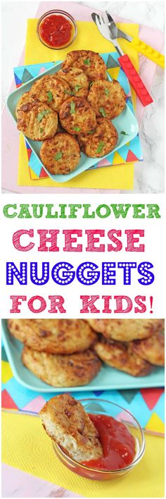 Cauliflower Cheese Nuggets Delicious vegetarian nuggets for kids packed with super nutritious cauliflower! - Delicious vegetarian nuggets for kids packed with super nutritious cauliflower! Vegetarian Nuggets, Vegetarian Kids, Vegetarian Recipes, Toddler Finger Foods, Toddler Meals, Toddler Food, Best Food For Toddlers, Baby Food Recipes, Healthy Dinner Recipes