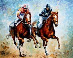 Close Race Artwork By Leonid Afremov Oil Painting & Art Prints On Canvas For Sale Oil Painting Texture, Oil Painting On Canvas, Canvas Art Prints, Painting & Drawing, Chicken Painting, Guache, Oil Painting Reproductions, Equine Art, Horse Art