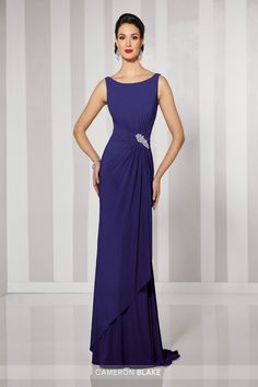6676cdfe61 Cameron Blake Sleeveless Jersey Gown 216690 Groom Wedding Dress, Groom  Dress, Elegant Ball Gowns