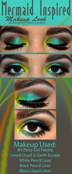 makeup,makeuplook,mermaid,diy,eyeshadow,eyelook,pretty Blog:http://flairatouchofposh.wordpress.com/