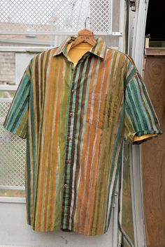 Island Referee Batik Stripe Poplin Shirt: Exceptional Casual Clothing for Men & Women from #TerritoryAhead $79.50 - $85.50