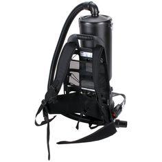 Rubbermaid 1868435 Black 10 Qt. HEPA Backpack Vacuum