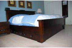 Solid Wood King Bed Frames   Sumatra Valley Storage Bed   Toronto