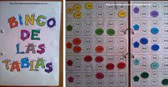 Aquí está lo que llevo varios días preparando... ¡El bingo de las tablas!   Seguimos trabajando con las tablas y he pensado que qué mejor f... Math For Kids, Fun Math, Activities For Kids, English Classroom, Math Classroom, Bingo, Math Tables, Study Methods, Maila