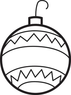 Christmas Ornaments Coloring Page #2