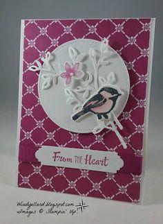 Windy's Wonderful Creations: Spring Fling Swap Card, Stampin' Up!, Petal Palette, Petals & More thinlits dies, Fresh Florals DSP