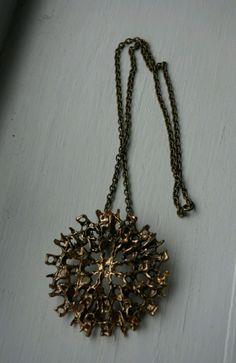 Studio Else & Paul Vintage Norwegian Jewelry Bronze Modernist Necklace Bronze Jewelry, Gold Necklace, Pendant Necklace, Brutalist, Native American Jewelry, Consideration, Scandinavian, Vintage Jewelry, Studio