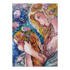 Shop Mother & Daughter Mermaids Print created by Creechers. Mother Daughter Art, Mother Daughter Tattoos, Tattoos For Daughters, Mother And Child, Mermaid Images, Mermaid Pictures, Mermaid Poster, Mermaid Art, Baby Mermaid Tattoo