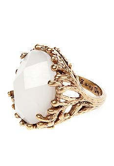 Lucky Brand Jewelry White Stone Ring