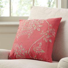 Birch Lane Penelope Pillow Cover, Red | Birch Lane