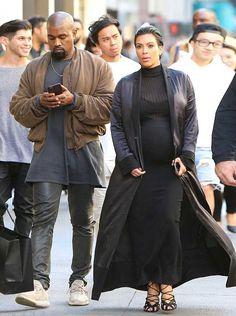Kanye West rocks Haider Ackemrann Bomber Jacket and yeezy 350 Boost Sneakers in San Francisco #kanye #kanyewest #haiderackermann #bomberjacket #yeezy350boost #sneakers #kimkardashian