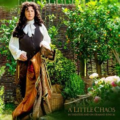 "Alan as King Louis XIV in ""A Little Chaos"" which he also co-wrote and directed. 2014 Costume design by Joan Bergin"