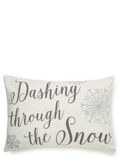 White Dashing Through the Snow Cushion