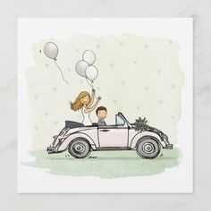 Wedding Day Cards, Wedding Gifts, Just Married Auto, Invitation Cards, Wedding Invitations, Graduation Cards Handmade, Wedding Canvas, Pre Wedding Poses, Bride Shower