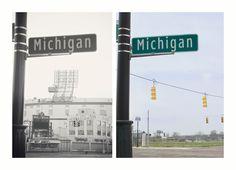 Detroit Tiger Stadium - Michigan & Trumbull. Photo by Debbie Sipes.