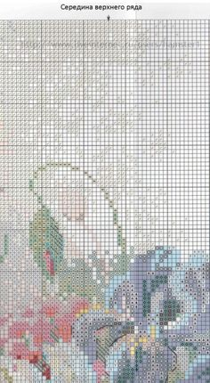 Gallery.ru / Фото #1 - цветы 6 - koreianka Cross Stitching, Cross Stitch Embroidery, Cross Stitch Patterns, Needlepoint Stitches, Needlework, Cross Stitch Flowers, Old Things, Diy, Bouquets