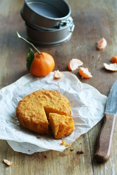 Mandarin Polenta And Macadamia Cake #rustic #baking #orange