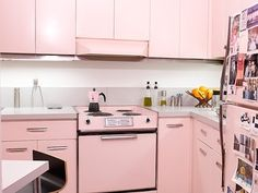Julie and Iker's Surprise Pink Kitchen in Marina City