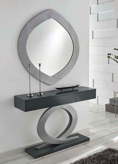 Best Mirror Design Ideas to Inspire Your Home's New Look : Take a moment to check at a few mirror ideas that we've gathered and hopefully it will offer some inspiration. Cool Mirrors, Beautiful Mirrors, Home Entrance Decor, Entryway Decor, Cooler Spiegel, Modern Mirror Design, Spiegel Design, Boutique Deco, Home Decor Furniture