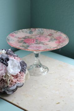 Vintage Cake Stand for Vintage Tea Party / by TheRocheStudio, $50.00
