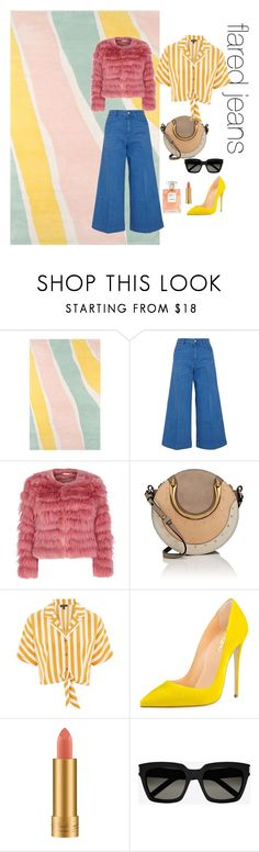 """flared jeans"" by meryembts on Polyvore featuring Novogratz Collection, STELLA McCARTNEY, Alice + Olivia, Chloé, Topshop, MAC Cosmetics and Yves Saint Laurent"