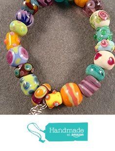 Alice in Wonderland Bracelet Lamp work Murano glass bead bracelet by Destiny Pier from Destiny Pier http://www.amazon.com/dp/B015HAL4XO/ref=hnd_sw_r_pi_dp_FImhwb1WBTKZY #handmadeatamazon