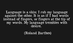 Roland Barthes -love this-