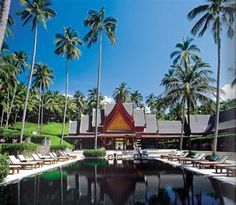 Amanpuri, Phuket, Thailand is the first Aman resort nestled among coconut grove with a private beach. This resort offers superb dining and excellent service.