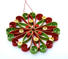 Christmas decoration, Eco-friendly, quilling.  -- Etsy.