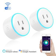 Smart Plug by Eques with breathe light, Timing Function for IOS/Android,Compatible with Alexa & Google Home, Switch On/Off your electric equipment from Anywhere(2 Packs)