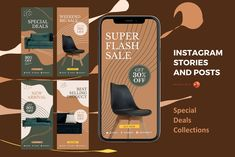 Instagram stories and posts powerpoint template - special de Instagram Mockup, Instagram Design, Instagram Story, Instagram Feed, Social Media Template, Social Media Design, Company Presentation, Product Presentation, Editing Pictures