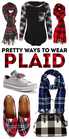 Pretty ways to wear plaid! I'm mad for plaid this season, here are some of my favorite ways to work plaid into your wardrobe. [The black and white buffalo check handbag. Christmas 2017, Rustic Christmas, Women's Fashion, Fashion Outfits, Fashion Tips, Steel Magnolias, Country Girls Outfits, Next Clothes, Bright Ideas