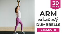 Workout Video: Arm Workout with Dumbbells Dumbbell Arm Workout, Full Body Hiit Workout, Body Workout At Home, Body Workouts, 30 Minute Workout Video, Workout Videos, Yoga Videos, Endurance Workout, Strength Workout