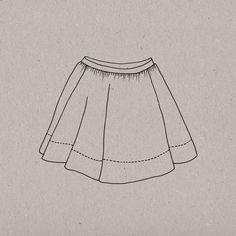 """La jupe qui tourne, tourne, tourne… C'est le rêve de toutes les petites filles de virevolter ! Avec la jupe « Musette » vous serez la meilleure des mamans. Une large parementure en guise d'ourlet lui donne un beau tombant et permet de belles associations de tissus. The skirt which turns and turns and turns... It is every little girls' dream to twirl! With the """"Musette"""" skirt, you will be the best of mum's. A large facing as an hem gives it a beautiful fall and allows nice fa..."""