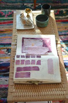 Swatches of purple in Sasha Ritter's NYC home | @Design*Sponge Photo by Kyle Espeleta