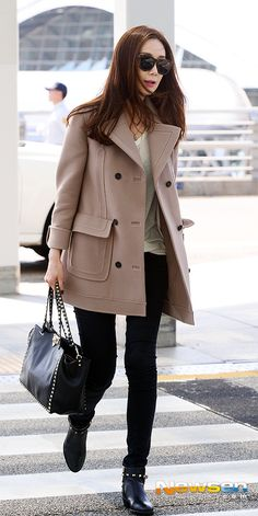 #Kstar#Korea Fashion#Korea Star Fashion#ChoiJiWoo#최지우#Airportlook#Airportfashion#패션