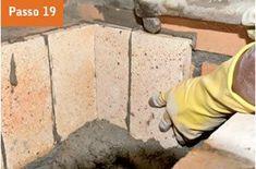 CONSTRUTORA SOUSA: Churrasqueira de tijolos, em 22 passos. Barbecue, Wood, Crafts, Masonry Bbq, Bricks, Cookers, Ovens, Cement, Creative Crafts