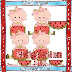 Watermelon Babies 1 - Clip Art by Angie Wenke