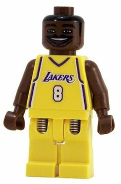"Kobe Bryant (Home Jersey) - LEGO Sports NBA Figure by LEGO. $27.90. Approximately 2"" tall. Rare LEGO figure from retired 2003 Lego sets!  Kobe Bryant - NBA Finals MVP in 2009 & 2010; NBA MVP in 2007-2008; NBA All-Star Game MVP in years 2002, 2007, 2009 & 2011; and MORE!!. Authentic LEGO minifigure. Exclusive to retired LEGO sports sets #3500-Kobe Bryant & #3563-NBA Collectors No. 4. LEGO collectible approximately 2"" tall"