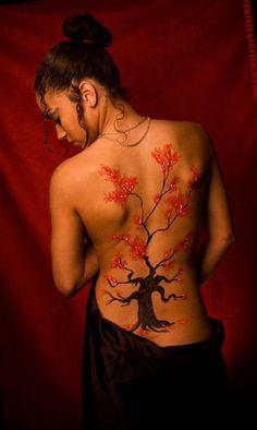 cherry blossom tree tattoo | CHERRY BLOSSOM TREE TATTOO MEANING.