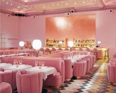 The famous pink Gallery restaurant at sketch in London. Beautiful pink interior design with rose gold finishes. Luxury restaurant design featured on www. - Luxury Living For You Restaurant Design, Sketch Restaurant, Pink Restaurant, Luxury Restaurant, Restaurant Ideas, Restaurant Furniture, Design Hotel, Toilet Restaurant, Restaurant Booth