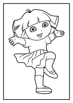 dora face coloring pages - photo#8